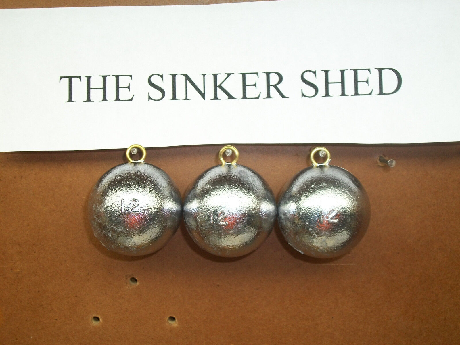 12 oz cannonball sinkers - - choose quantity 10/20 - - FREE SHIPPING 9842be