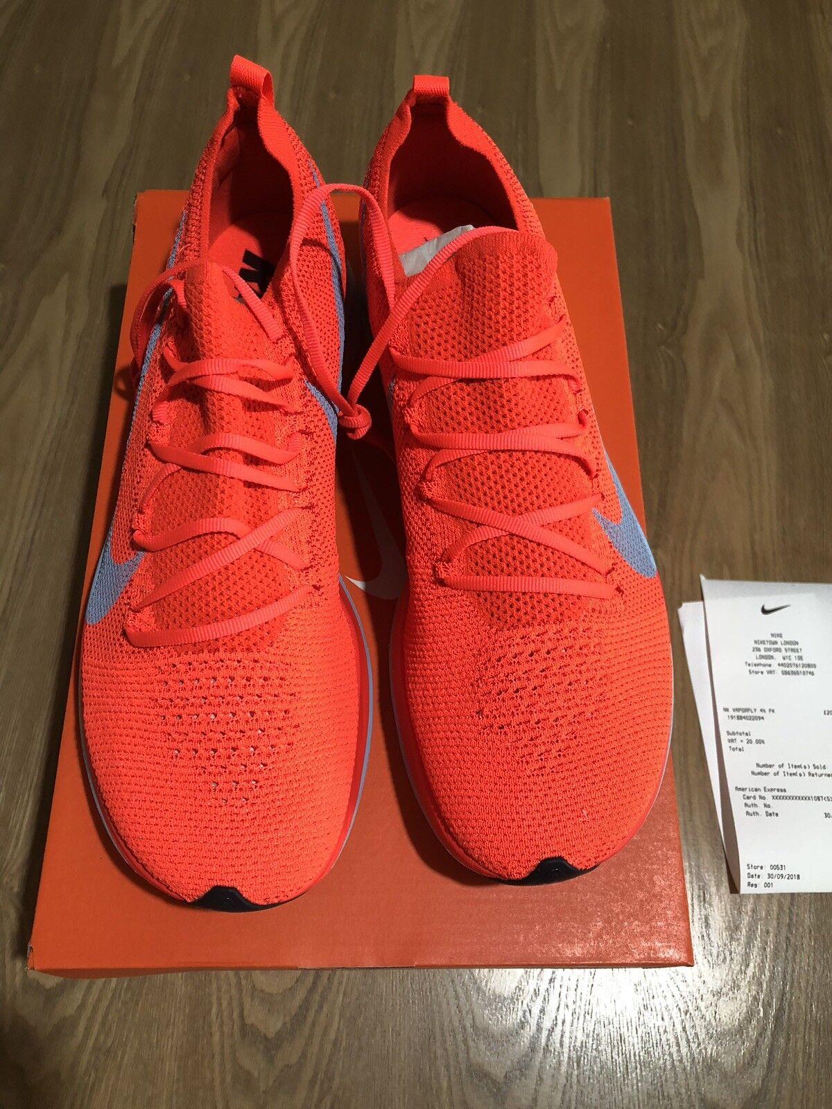 Nike Zoom Vaporfly 4% Flyknit BRIGHT CRIMSON UK10 US11 EU45 | Forma elegante  | Uomini/Donna Scarpa