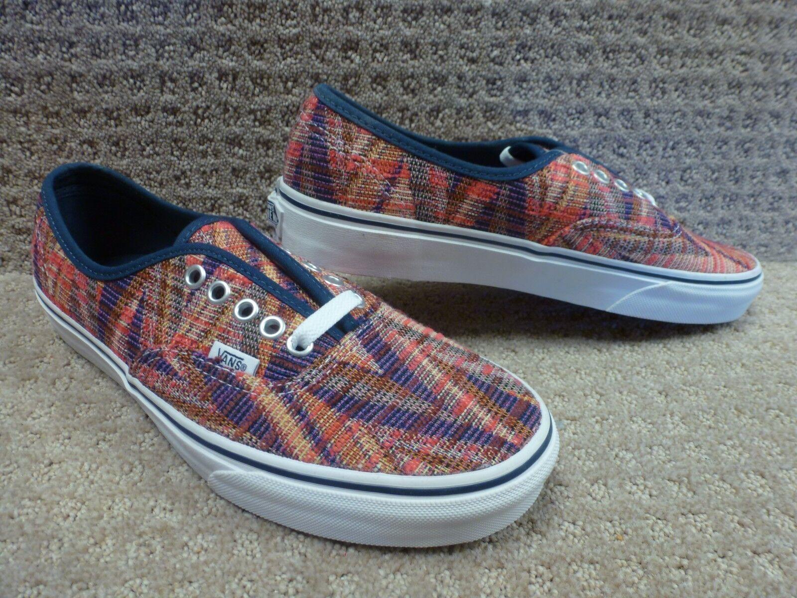 Vans Men's shoes Authentic -- (Woven Chevron) Pink TrWht