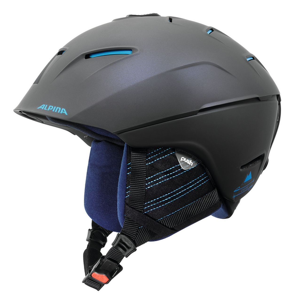 Alpina Skihelm Cheos - nightBlau-denim matt