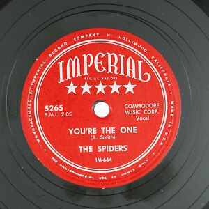 SPIDERS-I-Didn-039-t-Want-To-Do-It-You-039-re-The-One-10IN-1953-R-amp-B-VG-LISTEN