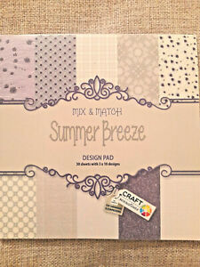 30-Feuilles-Summer-Breeze-papier-Bloc-Scrapbooking-Cardmaking-Paper-Pad-Art-Craft