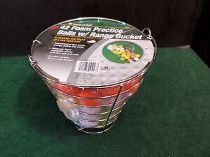 Practice Golf Balls Foam Multi Color Range Bucket Jef World of Golf New in Box