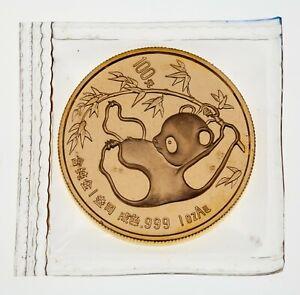 1985 1 Oz. Gold Panda Brilliant Uncirculated in Original Mint Sealed Plastic