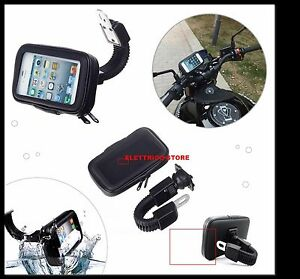 PORTA-CELLULARE-SUPPORTO-DA-MOTO-SCOOTER-IMPERMEABILE-WATERPROOF-IPHONE-ANDROID
