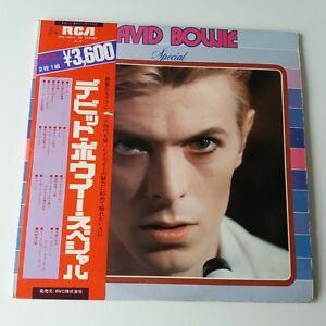 David-Bowie-Speciale-Vinyle-Lot-de-2-LP-Obi-Insert-Rare-Japonais-Meilleur-des