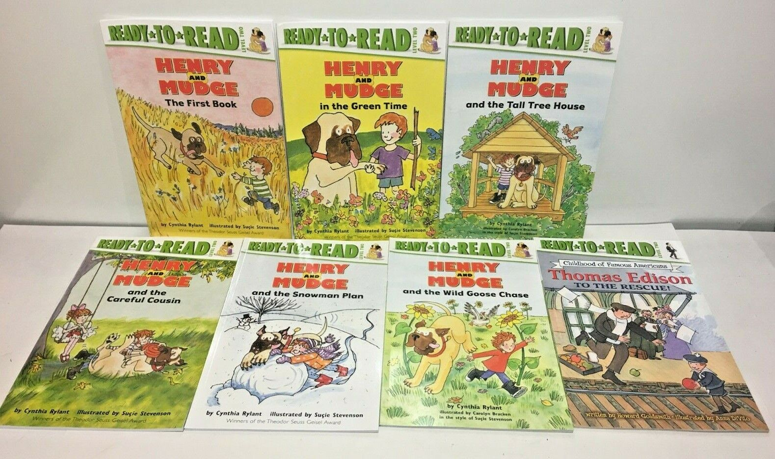 Lot Of 7 Henry And Mudge Thomas Edison Ready To Read Level Two Paperba