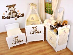 Kinderbett-Juniorbett-140x70-3x1-Neu-3-teiliges-Bettset-mit-Stickeree-nr-4