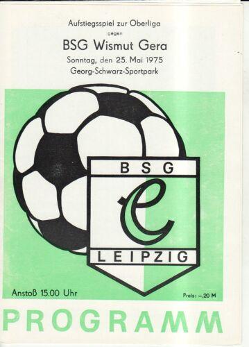 AR-OL 74//75  BSG Chemie Leipzig BSG Wismut Gera