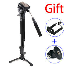 Yunteng VCT-288 Camera Monopod&Unipod Holder&Fluid Pan Head For Canon Nikon Sony