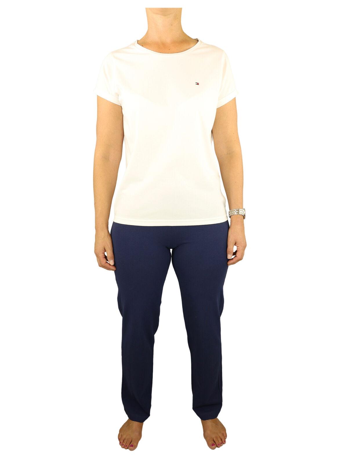 Tommy Hilfiger Damen SET Pyjama CN Tee SS UW0UW01347-132 Mehrfarbig XS