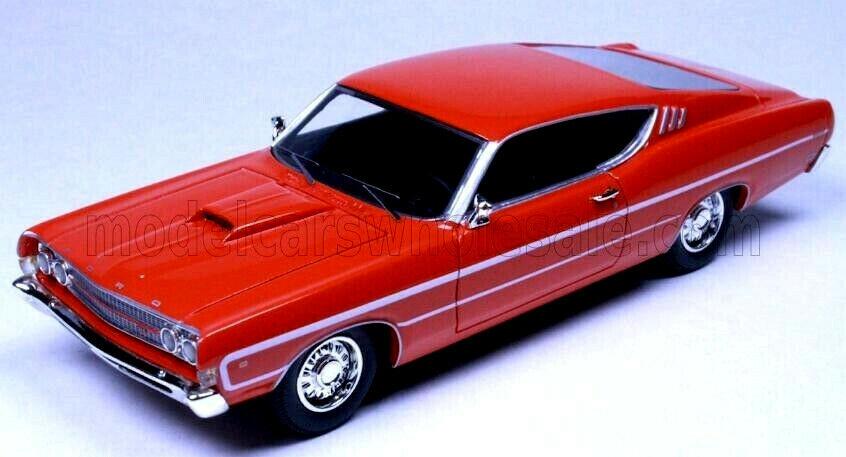 Merveilleux MODELCAR Ford torino 1969-Calypso Corail Rouge - 1 43 - lim.ed.700