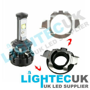 2-H7-LED-ADAPTER-HOLDER-RETAINER-HEADLIGHT-BULB-MERCEDES-FORD-NISSAN-TWIST-CLIP