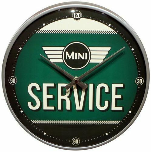 Wanduhr Original Uhr Retro Werkstatt Deko Service Schild MINI  COOPER SERVICE