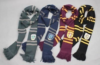 Harry Potter Gryffindor Slytherin Ravenclaw Hufflepuff House Logo Cosplay Scarf