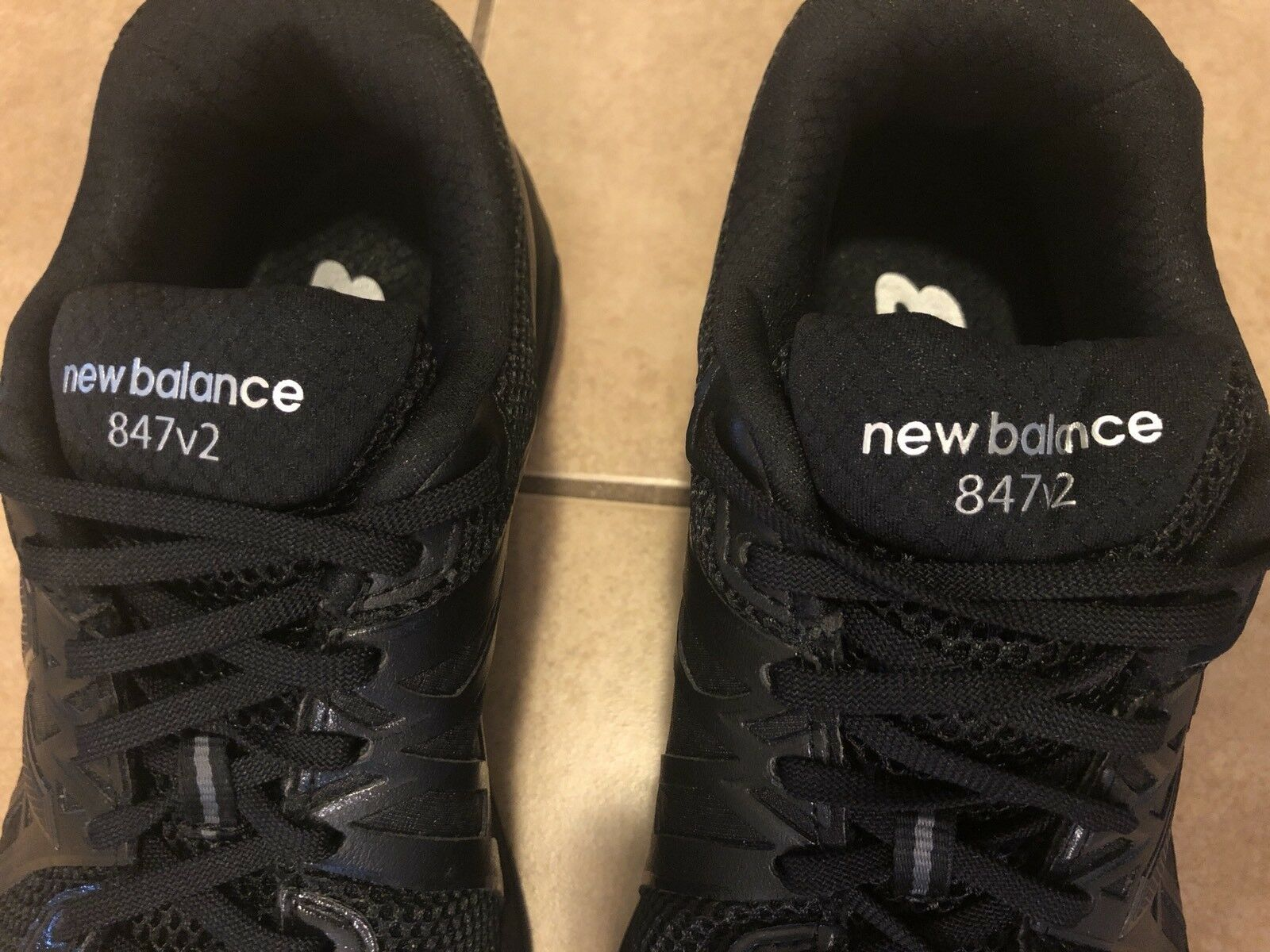 New Balance 847V2 MW847BK2 Men's Size 9 Extra Extra Extra Wide shoes Black Assembled in USA 32b069