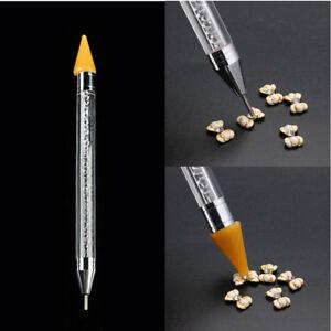 1Pc-Dual-ended-Dotting-Pen-Rhinestone-Picker-Wax-Pencil-Manicure-Nail-Art-Tool