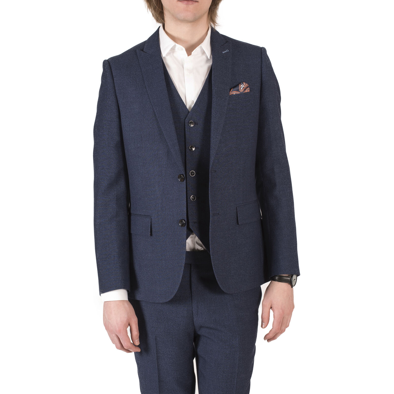 Harry Braun DANDY Three Piece Slim Fit Suit in Blau 540890044