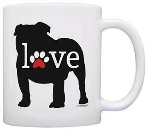 Image Is Loading Bulldog Gift Love Dog Paw Owner Gifts