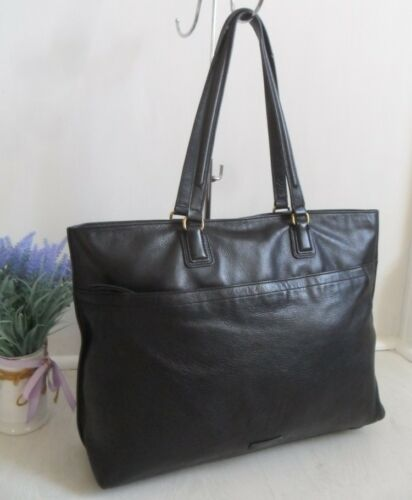 Fossil Tote Bag Laptop Julia Fits Shopper Travel Shoulder Leather Work Black 4q714rHwR