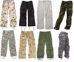 Women's Vintage Military Tactical Paratrooper Fatigue Pants Rothco