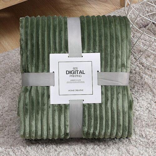 Flannel Blanket Soft Warm Faux Fur Throw Fleece Blanket Mink Sofa Bed Luxury