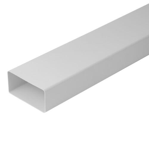 Lüftungsrohr Flachrohr Flackanal Lüftungskanal 110x55 / 220x55 mm 0,5/1,0/1,5