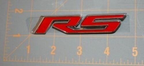 10-13 Camaro RS Red Front Grill Emblem Assembly With Mounting Brackets  NEW GM