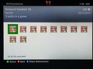Backyard Football '10 (Microsoft Xbox 360, 2009 ...