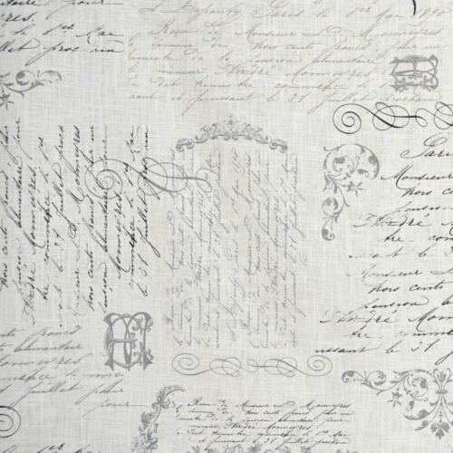 Textiles français VELLUM Ramie /& Cotton Designer Print fabric