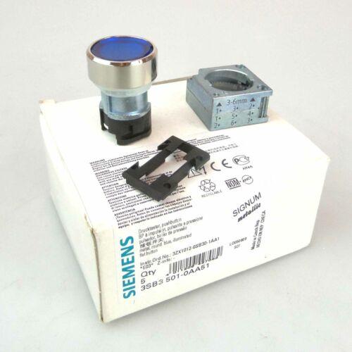 5Stk. Siemens Drucktaster 3SB3 501-0AA51 OVP