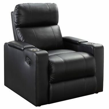 Mainstays Home Theater Recliner with Convenient In-Arm Storage