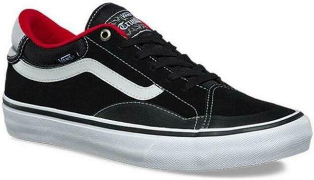 d16039001e VANS (TNT ADVANCED PROTOTYPE) SUEDE BLACK RED WHITE SKATE SHOES MENS SZ 9.5  NEW