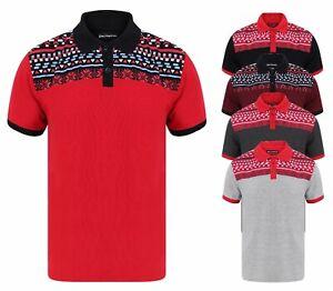 Camisa-Polo-Para-Hombre-De-Invierno-Copo-de-Nieve-Navidad-Nuevo-Pique-Algodon-polivinilico-Negro