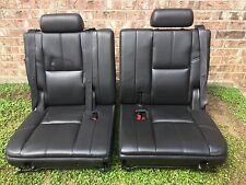Tahoe Yukon Escalade Suburban 3rd Third Row Seat 2007 - 2014 Black Ebony Leather