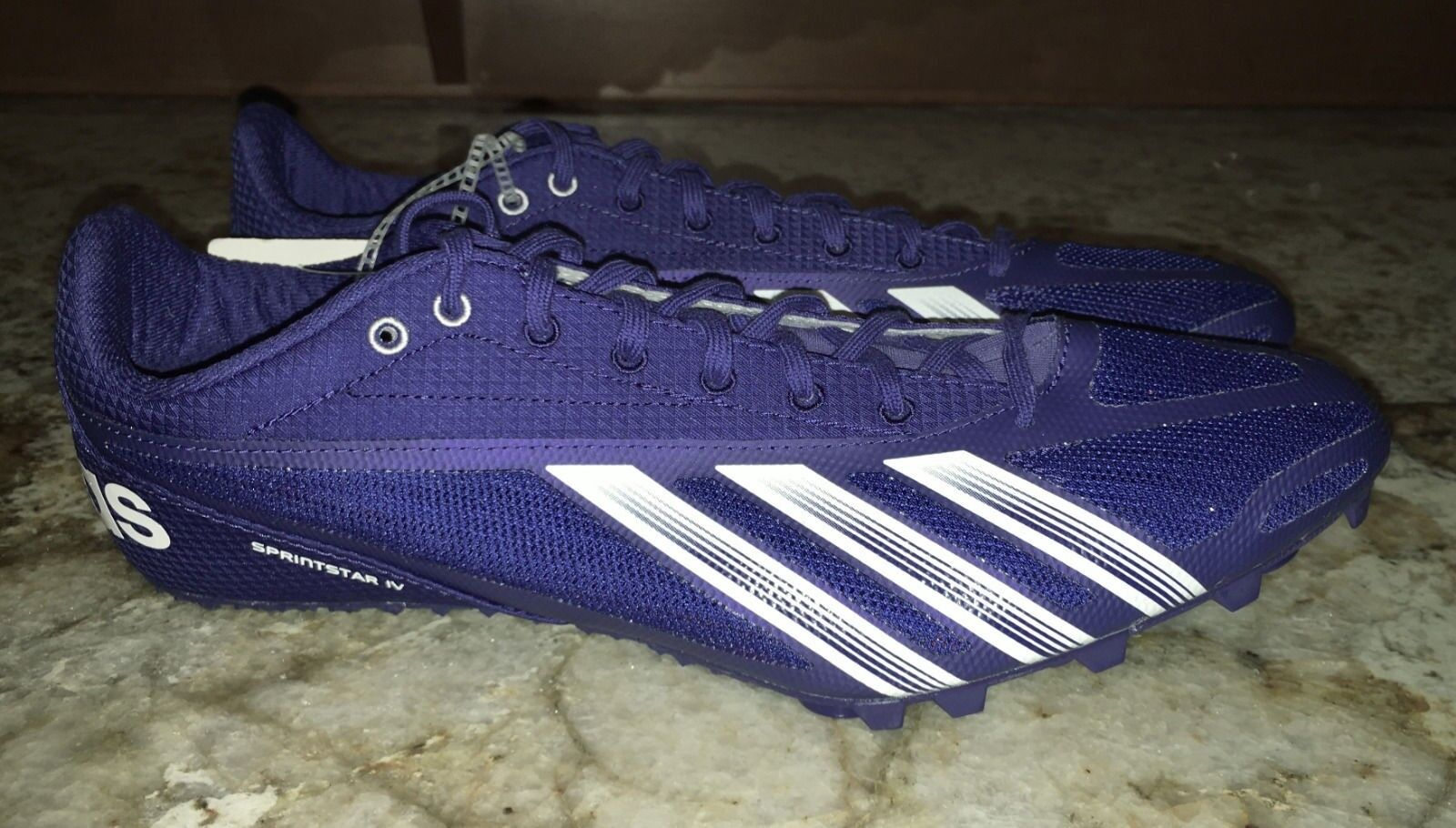 ADIDAS Sprint Star IV 4 Dark Blue White Track Field Spikes Shoes NEW Mens Sz 14 Great discount