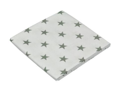 Molton Einlage ASMi Baby Sabber Spucktücher 2er Pack 80x80 cm Baumwolle Sterne
