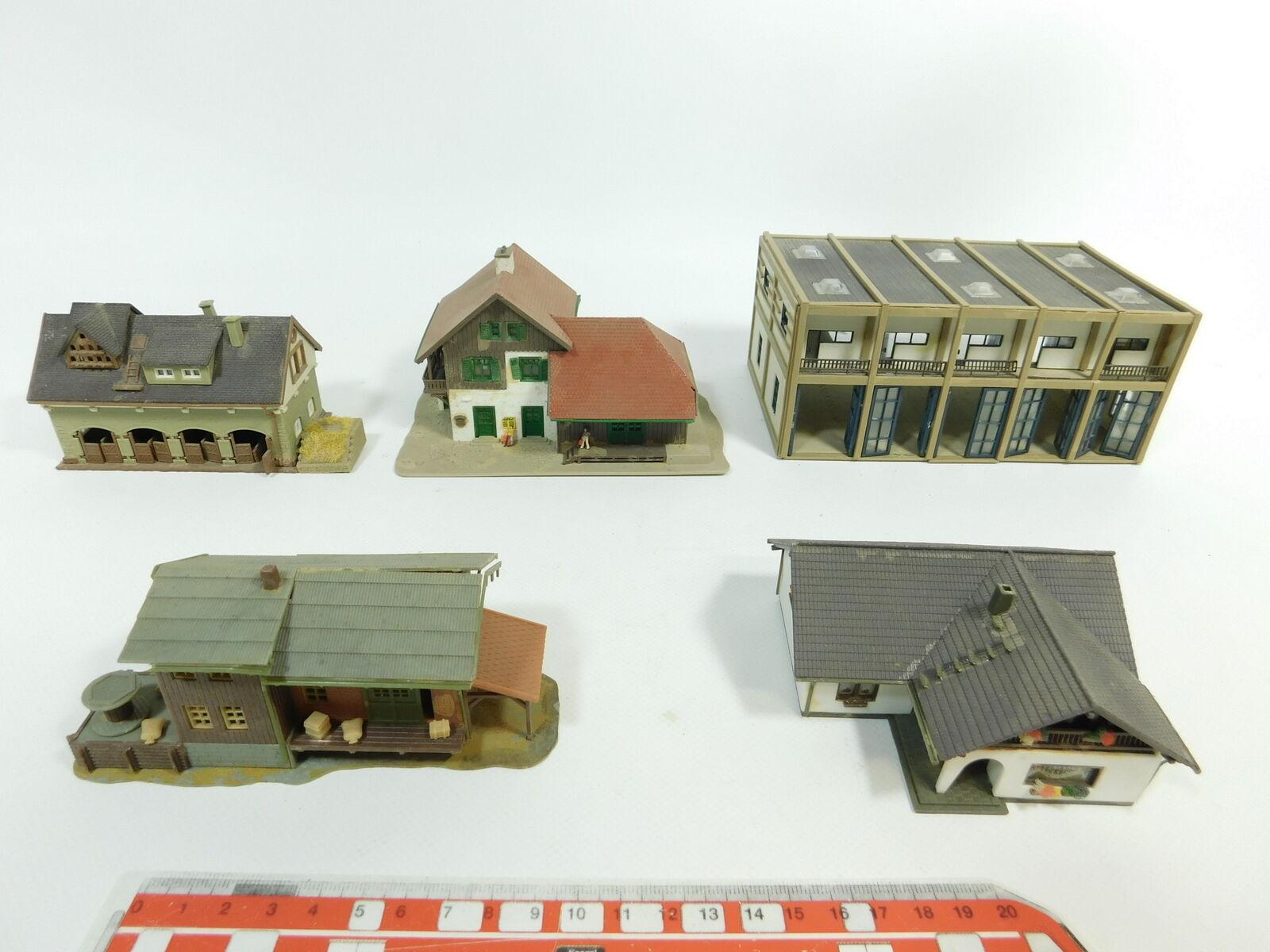 Bd780-1 5x FALLER/VOLLMER etc N modello: 27294 Garage+27613 viehstall+7521 ecc.
