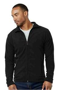 Men-039-s-Polar-Fleece-Zip-Up-Jacket-Black-Size-Small-0HAF