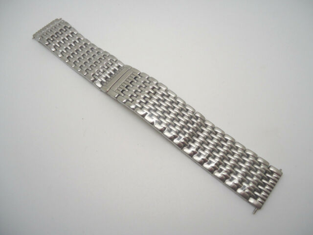 20 mm Silver Stainless Steel Mesh Metal Band IW