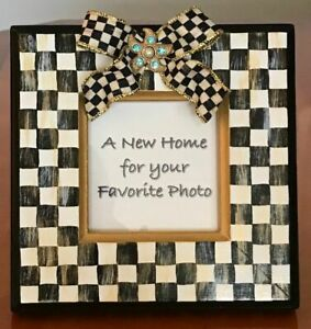 MY-OWN-HP-Courtly-Wood-Picture-Frame-MacKenzie-Childs-Ribbon-Bow-Starfish