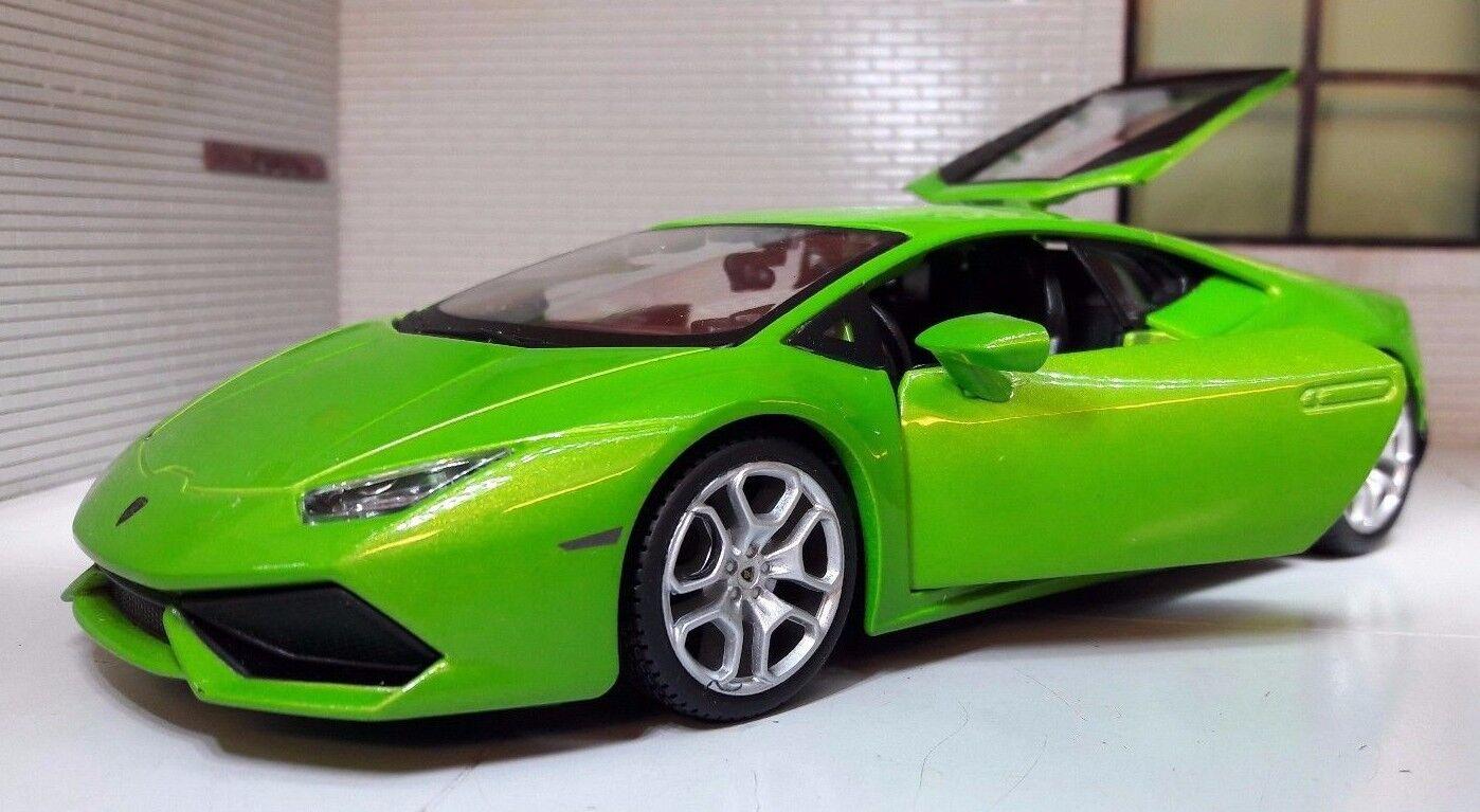 1 24 skala Mantis grön Lamborghini Huracan LP 610 -4 Maisto tärningskast modelllllerler Bil