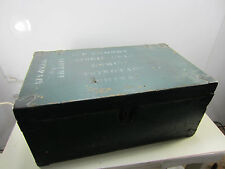 Vintage WWII USMC - Airmen Wespac- Wooden Foot Locker- Name on Box