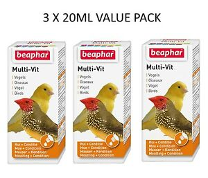 3X-BEAPHAR-BOGENA-MULTI-VITAMINS-FOOD-ADDITIVE-FOR-SMALL-AVIARY-AND-CAGE-BIRDS