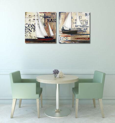 Blue Sailing Race I Keilrahmen-Bild Segel-Schiff Regatta modern Patricia Pinto