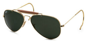 b584d9976a RAY-BAN L0216 RB3030 POLARIZED GOLD AVIATOR 58mm SUNGLASSES RB3025 ...