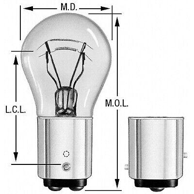 Turn Signal Light Bulb Front//Rear Wagner Lighting BP1157NA