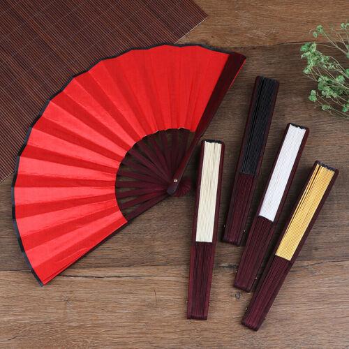 DIY Chinesisch Japanisch Einfarbig Bambus Rave Folding Hand Fan Sommer Geschenk