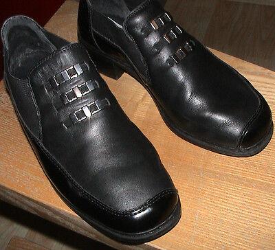 Rieker Antistress Damen Schuhe Halbschuhe Pumps Größe 4 Obermaterial Leder