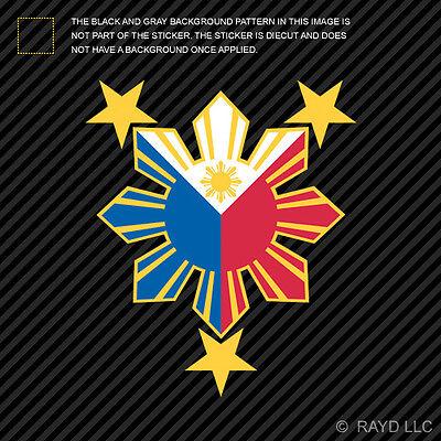 Philippines Sun Sticker Die Cut Decal Vinyl #2 stars filipino
